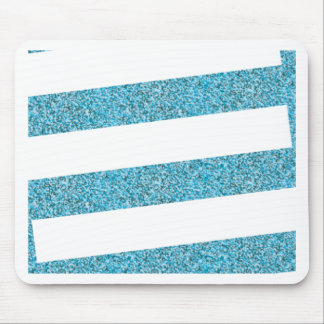 White stripes and blue dots mouse pad