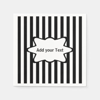 White Stripes   Choose your Background Color Paper Napkin