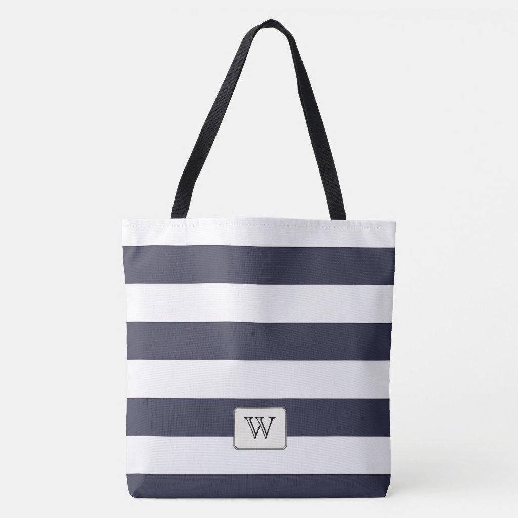 White Stripes on any Color Custom Monogram