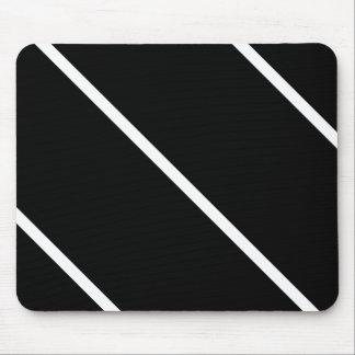 White Stripes On Black Mouse Pad