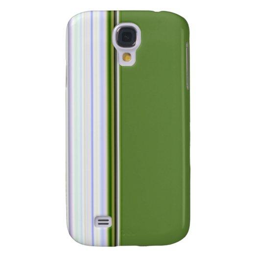 White Stripes on Green Samsung Galaxy S4 Case