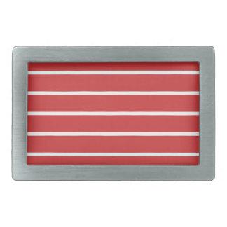White Stripes on Red ベルトバックル