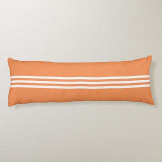 White Stripes on The Orange Body Pillow