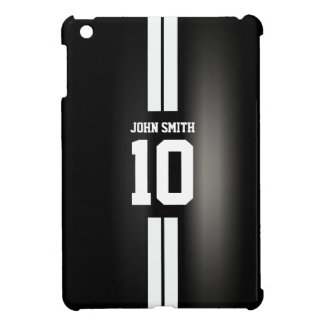 White Stripes Soccer Jersey Dark iPad Mini Case