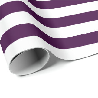 White Stripes with Dark Purple | DIY Color Wrapping Paper