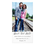White Style Save The Date Photo Cards