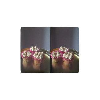 White stylish cupcakes pocket moleskine notebook