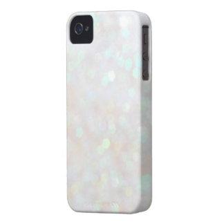 White Subtle Bokeh Sparkle Glitter iPhone 4s Case Case-Mate iPhone 4 Cases