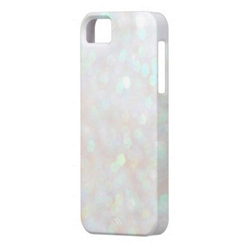 White Subtle Bokeh Sparkle Glitter iPhone 5s Case : Zazzle