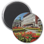 White Summer blooms, Montreal flowers 2 Inch Round Magnet