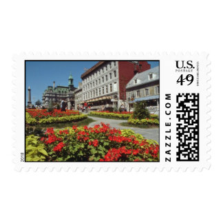 White Summer blooms, Montreal flowers Postage
