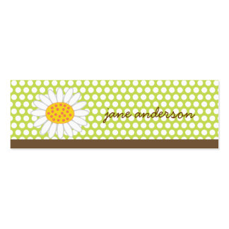 White Summer Daisy Fun Custom Thank You Gift Tag / Double-Sided Mini Business Cards (Pack Of 20)