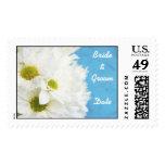 White Sunflower Wedding Postage Stamp