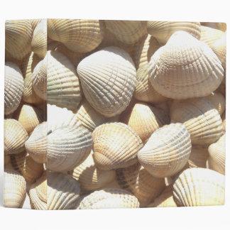 White Sunny Summer Beach Seashells Ring Binder