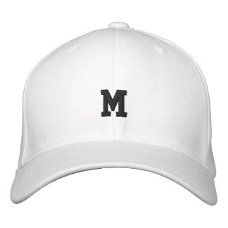 White Super Star Monogrammed Embroidered Hat