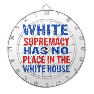white supremacy design dartboard