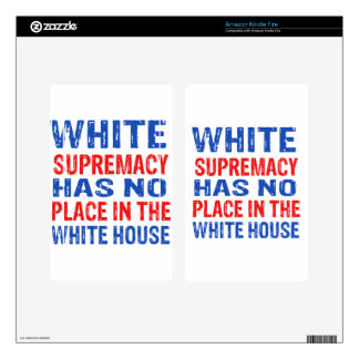 white supremacy design decals for kindle fire