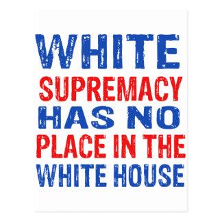 white supremacy design postcard