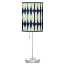 white surfboard pattern table lamp