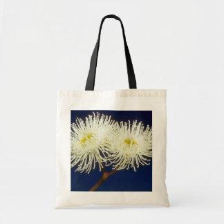 white Swamp mahogany (Eucalyptus robusta) flowers Budget Tote Bag