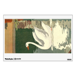 White Swan and Reflection on the Lake Room Decals