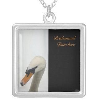 White Swan Bridesmaids Wedding Necklace
