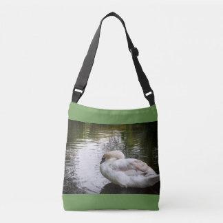White swan crossbody bag