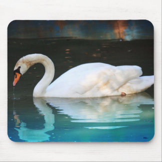 White Swan in the Lake Mouse Pad