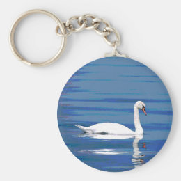 White Swan Keychain