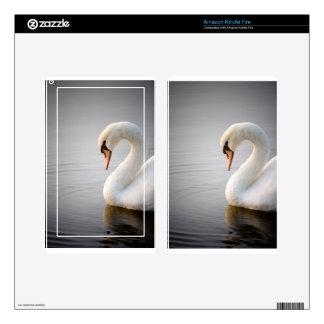 White Swan Kindle Fire Skins