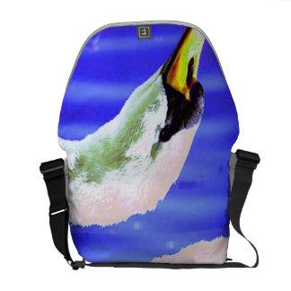 White Swan Messenger Bag