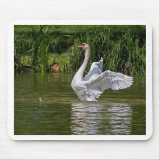 White Swan Mouse Pad