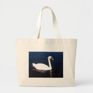 White swan on still waters bag