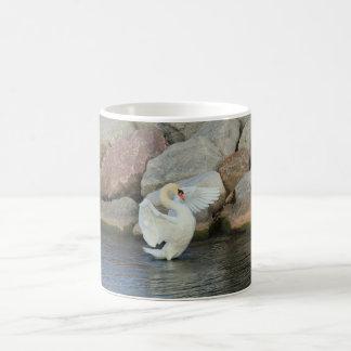 White Swan Posing Coffee Mug