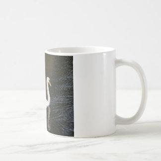 White swan reflected coffee mug