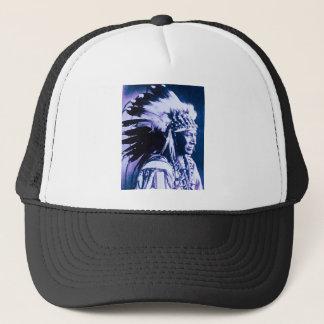 White Swan Sioux Chief Lakota Vintage Trucker Hat