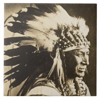 White Swan Sioux Indian Chief Tile