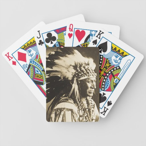 White Swan Sioux Indian Chief Vintage Card Deck