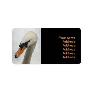 White Swan Wedding Custom Address Label