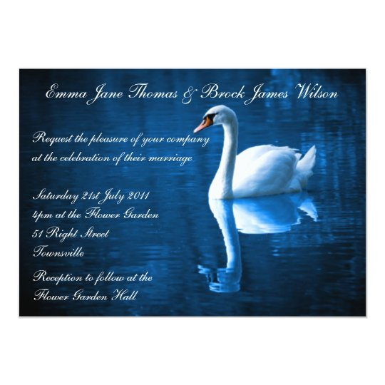 White Swan Wedding Invitation