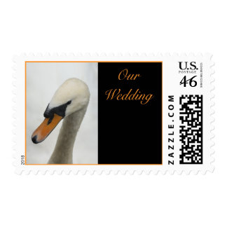 White Swan Wedding Postage Stamps