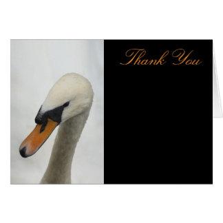 White Swan Wedding Thank You Card