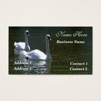 White Swans Business Card