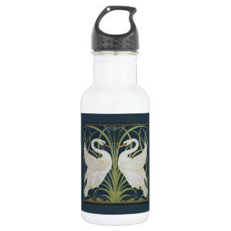 White Swans Nouveau Blue Water Bottle