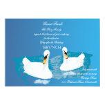 White Swans Wedding Brunch Invitation