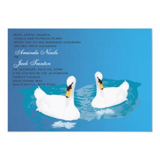 White Swans Wedding Invitation