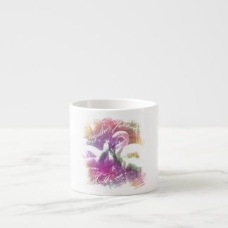 white swans wedding or anniversary keepsake gift espresso cup