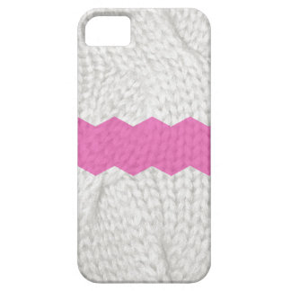 White Sweater knitted look, Pink chevron iPhone 5 iPhone SE/5/5s Case