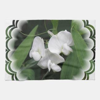 White Sweet Pea Kitchen Towel