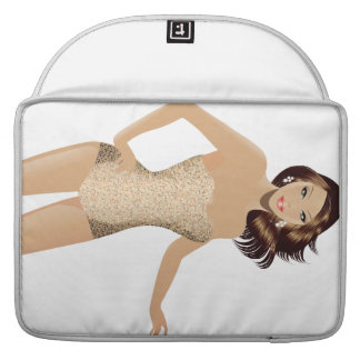 "White Swimsuit Girl 15"" MacBook Pro Sleeve"